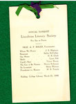 March 21,1906 Annual Banquet Book Lincolnian Literary Society