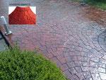 pavimento de hormigón impreso-adoquin abanico