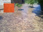 pavimento de hormigón impreso-piedra irregular