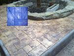 pavimento de hormigón impreso-pizarra silleria