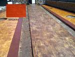 pavimento de hormigón impreso-madera