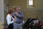 Le P Desplanches a repris sa chère flûte avec joie