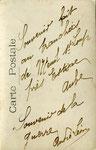 Carte postale des poilus au Mesnil en  1914 verso