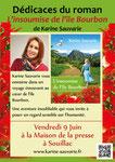 """Création de flyers promotionnels pour le roman """"L'insoumise de l'île Bourbon"""" de Karine Sauvarie. 2016"""