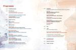 """Intérieur du programme """" Les arts et la culture dialoguent sur l'inclusion"""" organisé par Culture Outaouais. Conception graphique et illustrations des affiches et du programme. En collaboration avec André Engoué. 2019"""