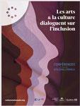 """Conception graphique et illustrations des affiches et du programme """" Les arts et la culture dialoguent sur l'inclusion"""" organisé par Culture Outaouais. En collaboration avec André Engoué. 2019"""
