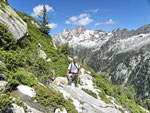 Sentiero di ritorno per l'Alp de Vazzola