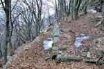 Sentiero per la cima a 1406 m