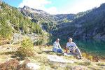 Chico e io al Lago di Sfii 1909 m