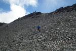 ..... verso i laghetti a 2593 m