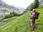 Sul sentiero per i Monti di Motta di Cauco