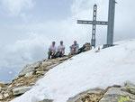 Io, Adri e Chico alla Cima del Simano 2580 m
