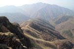Valle Cugnolo e la cresta da risalire da Crotta