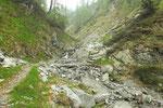 Traversata prima di arrivare all'Alpe Saléi