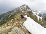Sulla cresta Martum - Piz de Molinera
