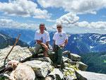 Ilario, Rebecca e io sul Pizzo d'Orsalia 2664 m