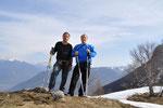 Luciano e io sulla Cima a 1406 m