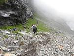 Discesa nella Val del Galbines