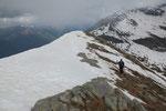 C'è ancora parecchia neve sulla cresta