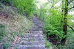 Gli scalini non ci abbandoneranno più fino ad Aiarlo