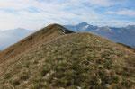 Monte Zuccaro durante la discesa all'Alpe di Spoccia