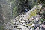 Sul sentiero per l'Alpe di Sfii