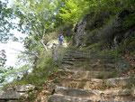 Le scalinate sopra Linescio