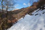 Sul sentiero a tratti c'è ancora neve