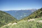 Verso il fondovalle dall'Alp di Mea