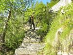 Le scalinate da Calnègia a Gradisc