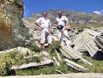 Io e Chico al Pian de Baitel 2080m