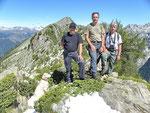 Chico, Ilario, Reby e io al Passo del Segnale di Vazzola