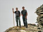 Ilario e io sul Pizzo Taneda 2667 m  peccato per la nebbia !!!