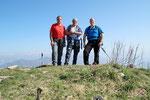 Chico, Luciano e io sul Sasso Gordona 1410 m