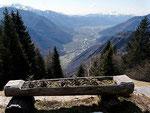 Verso Bellinzona dall'Alpe di Stabiello
