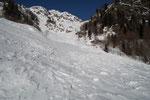 Attraversamento di un vallone a 1700 m