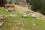 La nuova fontana all'Alp de Martum