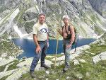Ilario e io al Lago piccolo della Cròsa 2116 m