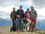 Ilario, Aide, Mauro e io sulla Cima de Nomnom