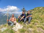 Ilario, Chico e io sulla cresta per il Pizzo Sascòla