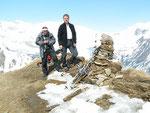 Chico e io sul Pizzo Rossetto 2099 m