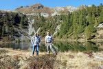 Chico e io al Lago dei Pozzöi 1955 m