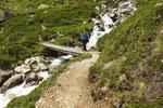 Ritorno verso l'Alpe Cruina