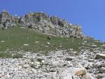 Salita verso la Bocchetta a 2500 m