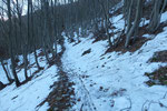 A Pian Camoghè incontriamo la prima neve