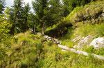 Sul sentiero per l'Alpe Blitz
