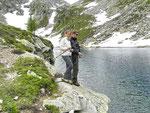 Marika e Tiziano a pesca al Lago grande della Cròsa