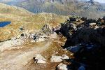 Discesa per i pascoli di Maderone