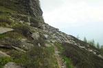 Sentiero per l'Alpe Pesced