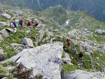 Discesa per l'Alpe della Motta